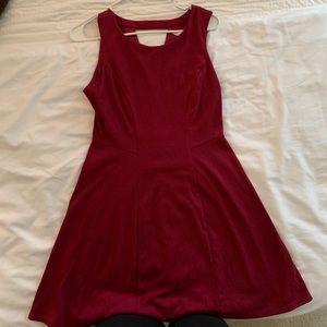 Lauren Conrad - maroon dress
